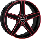 Autec delano Matt Black - Red Polished(278158)