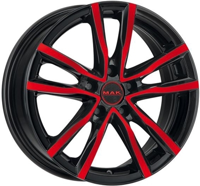 MAK milano Black And Red Metallic