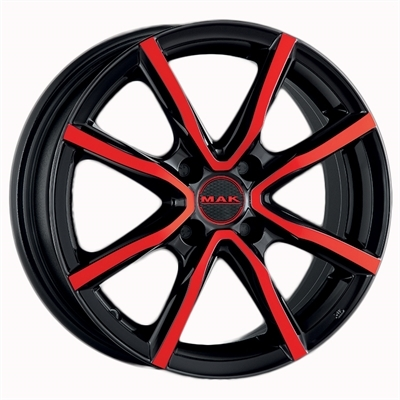 MAK milano 4 Black And Red Metallic
