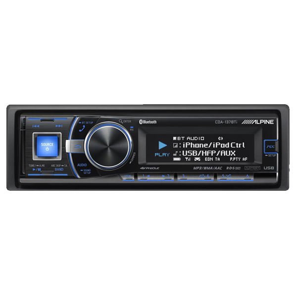 Alpine CDA137BTI CD/TUNER - 3 LINE OUT & BT
