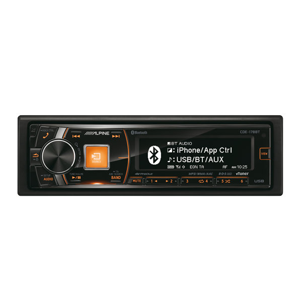 Alpine CDE178BT CD/TUNER BLUETOOTH 3 LINE OUT 4V