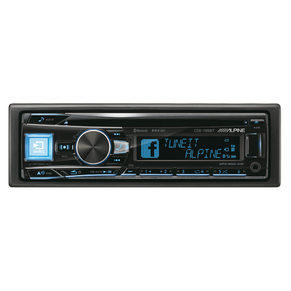 Alpine CDE195BT CD/TUNER BLUETOOTH 3 LINE OUT