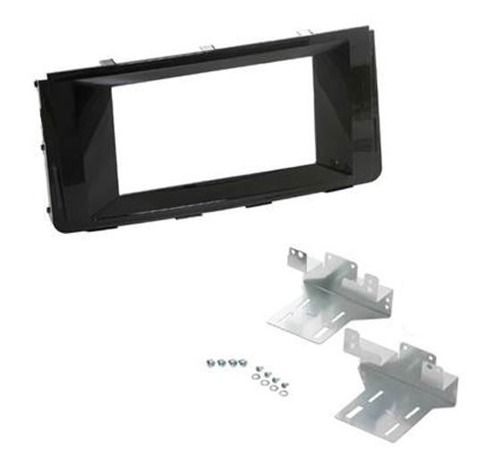 2-DIN kit til Hyundai H350 2015-, sort.