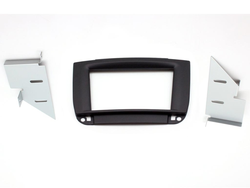 2-DIN monteringskit til Mercedes CL500 W215 98-05, sort soft