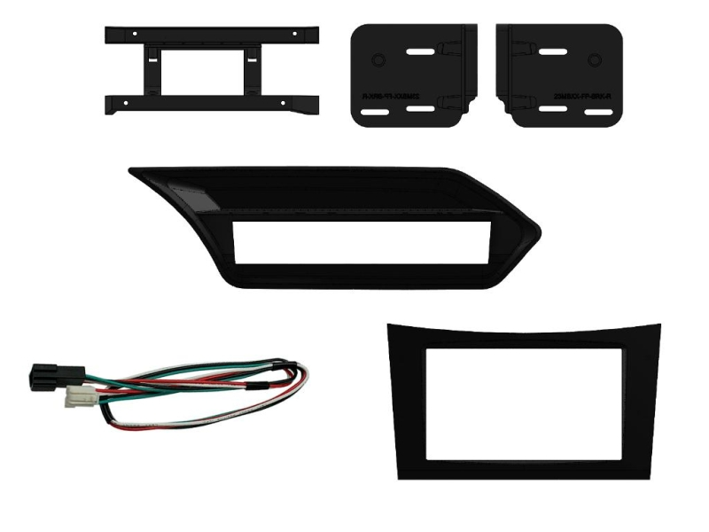 2-DIN kit til Mercedes E-klasse W212 2009-2012; sort.