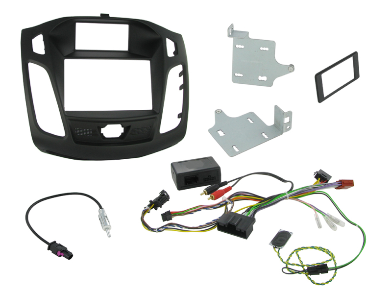 2-DIN kit Sort ramme Ford Focus 2011> lille display