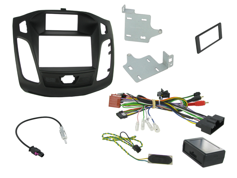 2-DIN kit Sort ramme Ford Focus 2011> stort display