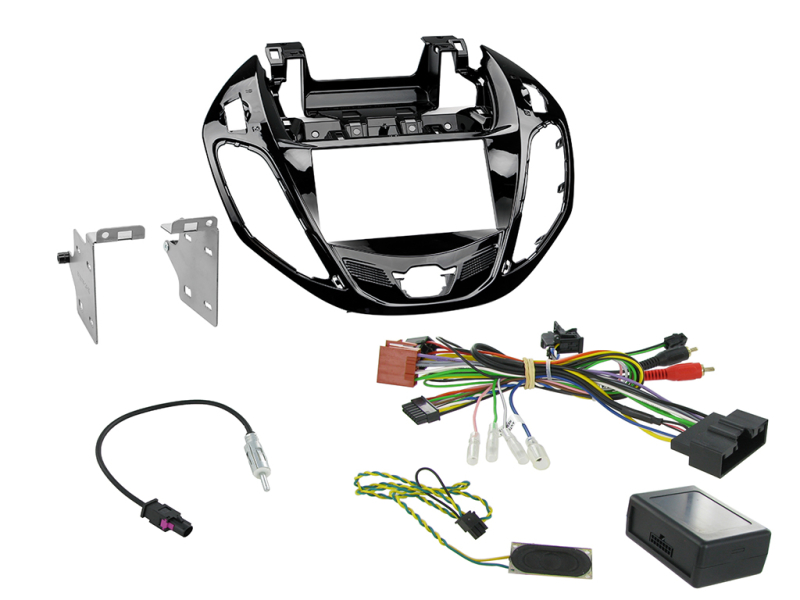 2-DIN kit  Pianosort ramme, Ford B-Max 2012>.