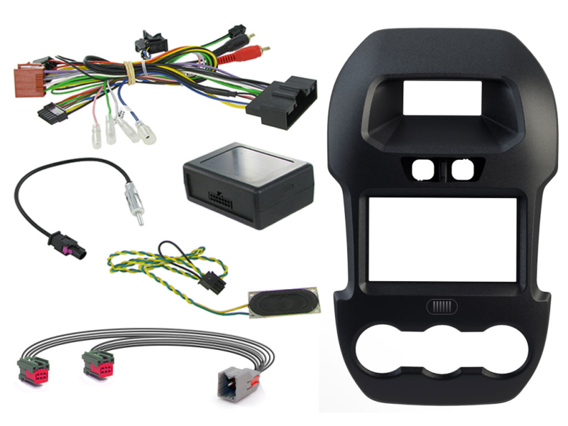 2-DIN kit Sort ramme, Ford Ranger 2012>