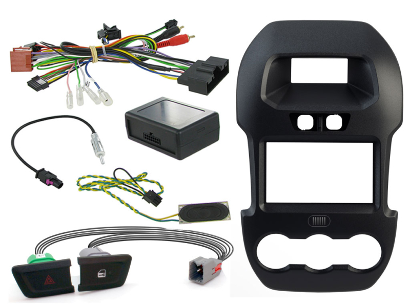 2-DIN kit Sort ramme Ford Ranger 2012>