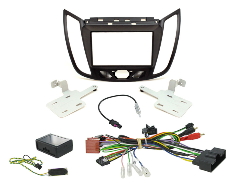 2-DIN kit Sort ramme, Ford Kuga 2013>.