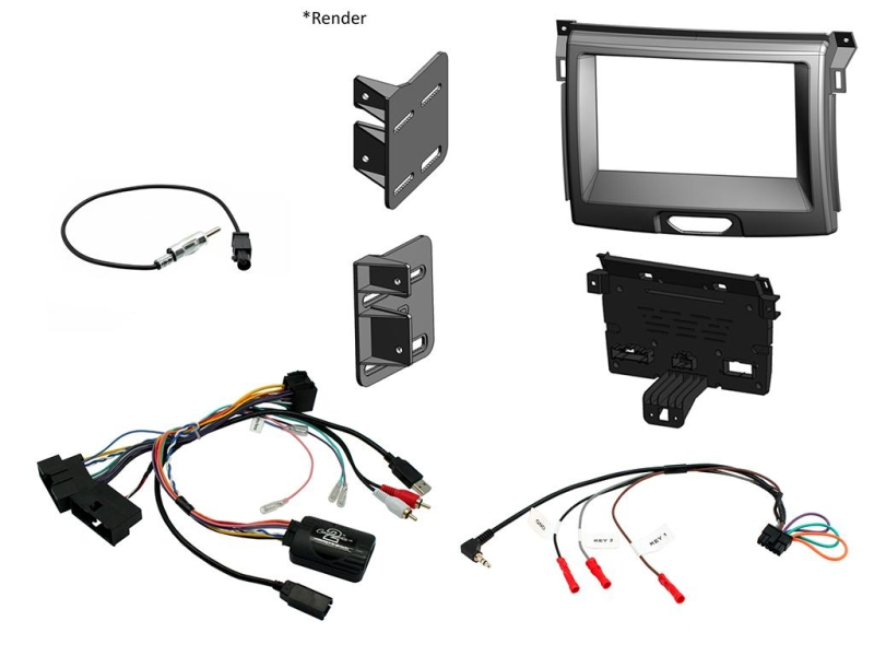 Komplet kit til Ford Ranger 2015-