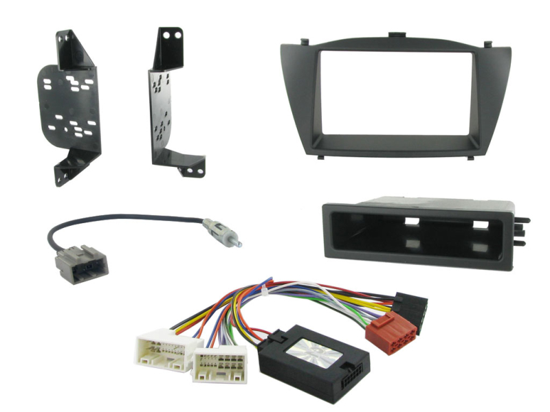 2-DIN kit Sort ramme, Hyundai iX35 2010>