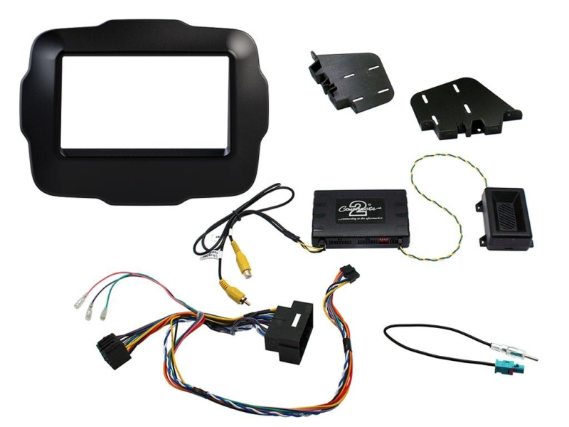 Komplet 2-DIN kit Jeep Renegade 2015-