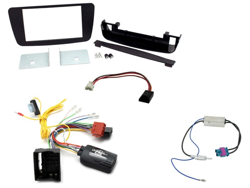 2-DIN kit Sort ramme,  Mercedes A-klasse W176 2012>
