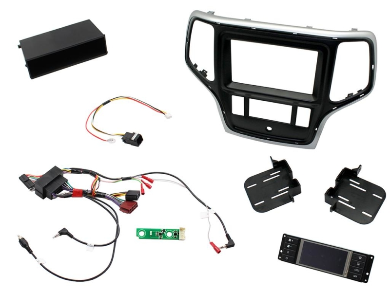 2-DIN pro kit til Jeep Grand Cherokee 2014- i sølv/sort udfø