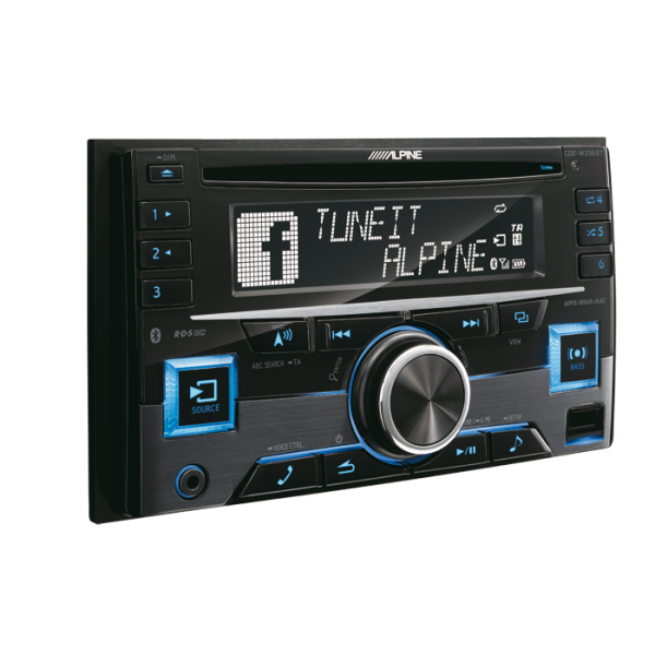 Alpine CDE-W296BT 2-DIN cd/tuner med Bluetooth