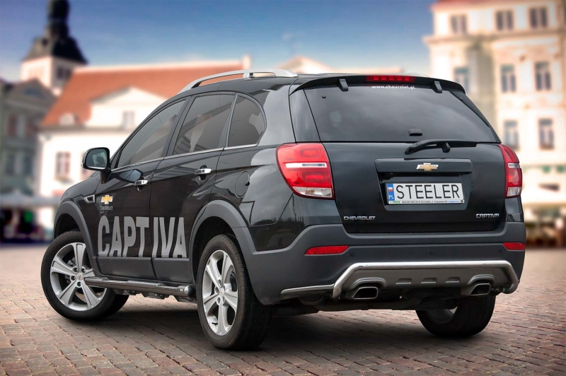 Sort bagrør til CHEVROLET CAPTIVA 2012 - 2015